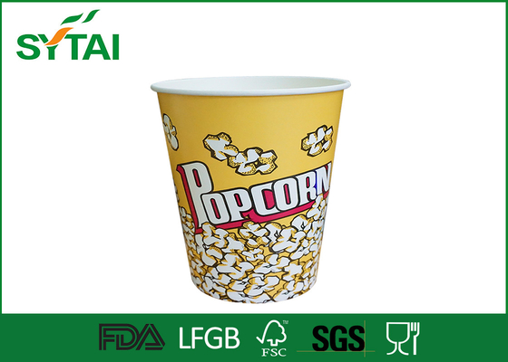 Porcellana Monouso di carta Popcorn Secchi / biodegradabile carta Popcorn Coppe Multi Color fornitore